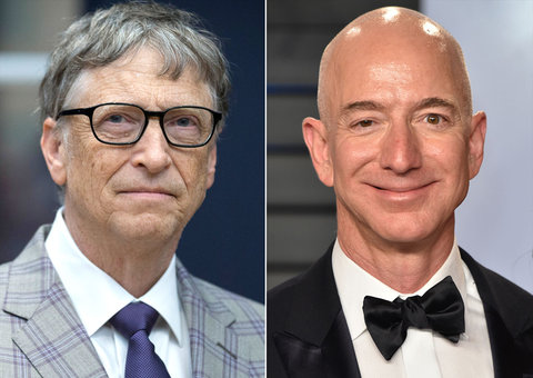 Who just joined Jeff Bezos and Bill Gates in the $100 billion club?