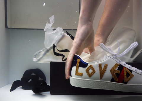 Gucci drops new artist collab for Ace sneaker
