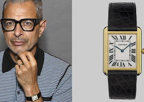 Jeff Goldbloom's loves a classic Cartier watch