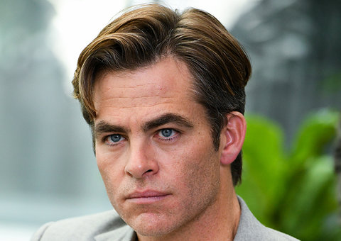 Is Chris Pine too dreamy to play a 47 year old Walter Cronkite in Newsflash?