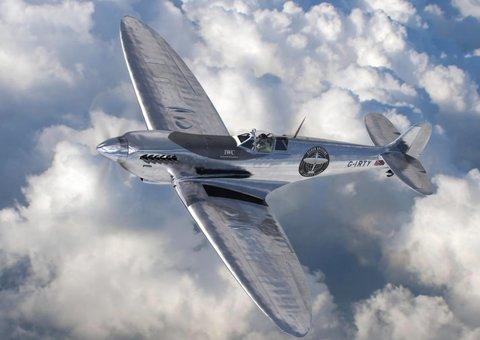 Watch the original WW2 Mark IX Spitfire take off on longest flight ever with IWC