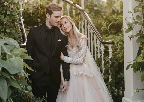 PewDiePie and his wife just had one of the most chic weddings of all time