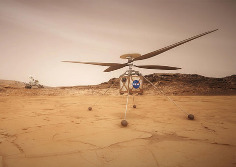 NASA has a helicopter sidekick that will help the Mars rover during 2020 mission