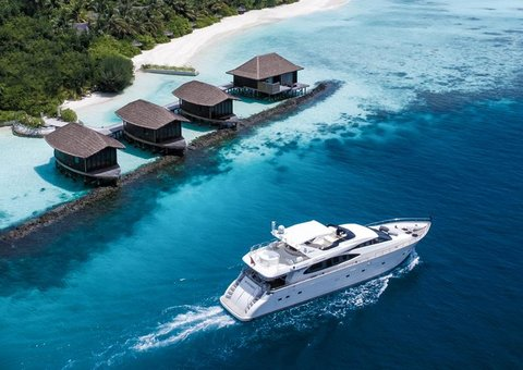 You can now rent a super yacht at the Jumeriah Vittaveli hotel in the Maldives