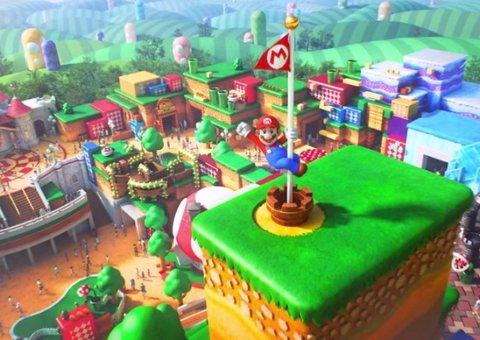 A sneak peek inside the Super Mario World theme park