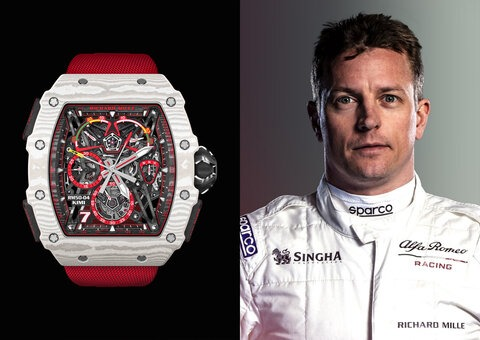 F1 driver Kimi Räikkönen teams up with Richard Mille