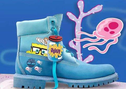 The Timberland x Spongebob collaboration kinda works