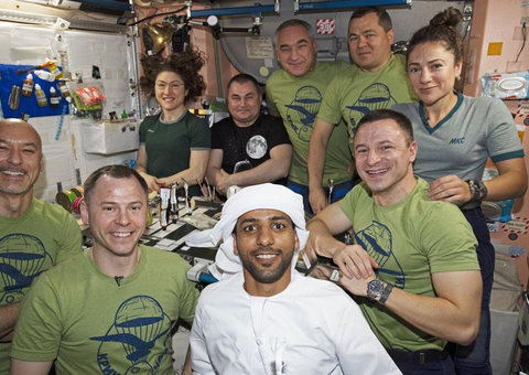 Hazza Al Mansouri becomes first person to wear kandura in space