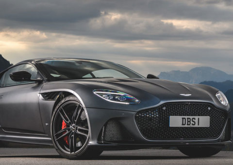 Aston Martin calls the $300,000 DBS Superleggera the greatest Bond car line-up ever