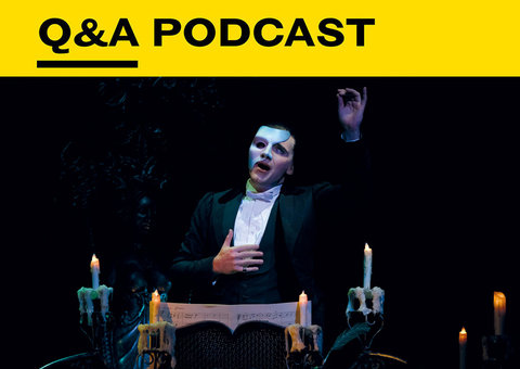 The man behind the Phantom's mask - actor Jonathan Roxmouth