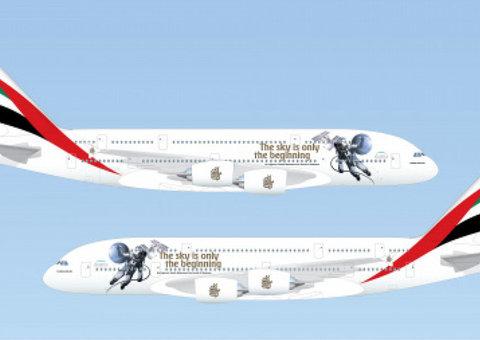 Hazza Al Mansouri celebrated with special Emirates Airbus A380