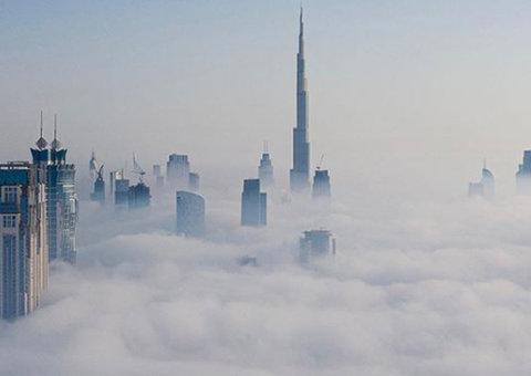 Sheikh Hamdan shares beautiful images of fog-covered Dubai
