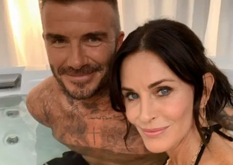 Why were David Beckham and Courteney Cox in a hot tub together?
