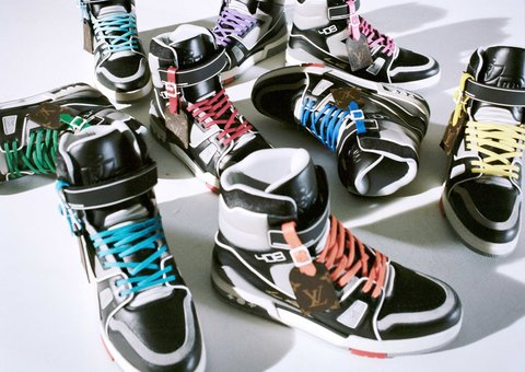 Louis Vuitton introduces new 'forest green' Dubai limited-edition LV high-top trainer