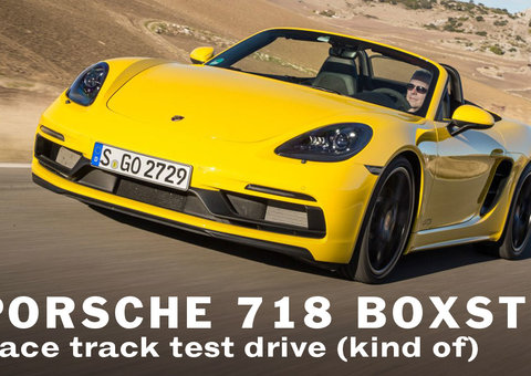 Driving the new Porsche Boxster 718 in Dubai