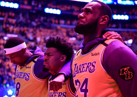 LeBron James paid tribute to Kobe Bryant at the first Lakers game since his death