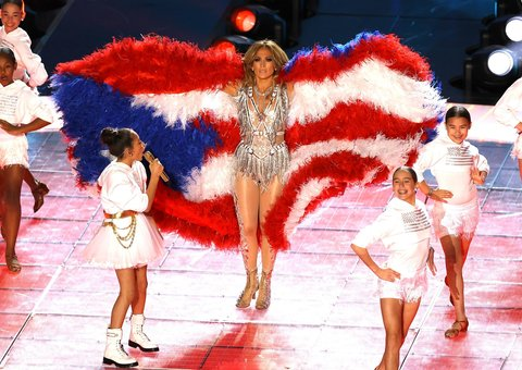 Jennifer Lopez's Super Bowl halftime show had a surprise guest