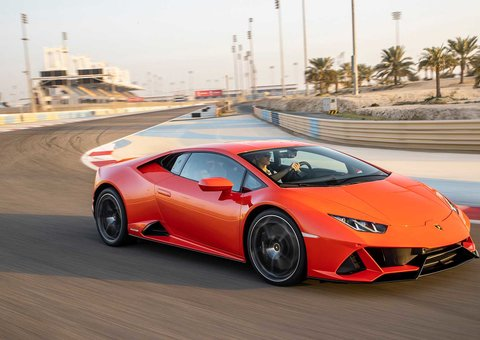 We drove a Lamborghini Huracan EVO on the track