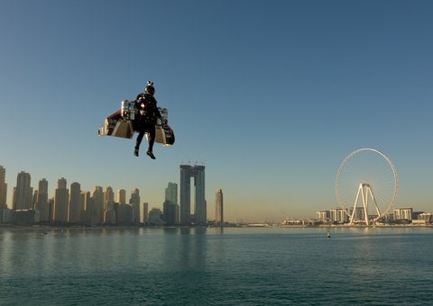 Real-life Iron Man? Sheikh Hamdan unveils new Dubai Jetman stunt