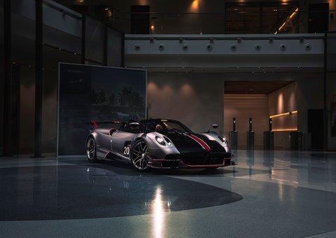 The $3.5 million Pagani Huayra Roadster makes its Dubai debut