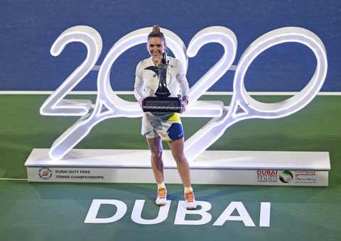 Simona Halep won her 20th title at 20th Dubai WTA tennis championships