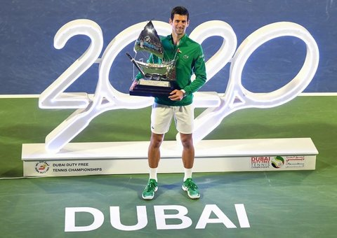 Novak Djokovic won his fifth Dubai Open title this weekend