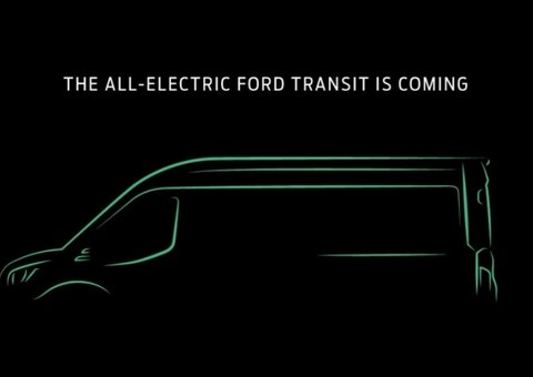 'Men with Electric Ven'. Ford's Transit van is going electric