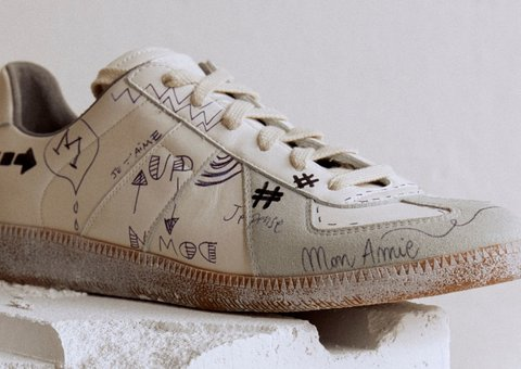 Maison Margiela launch their 'Vintage Replica' trainers exclusively on Mytheresa.com