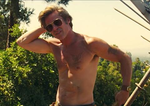 Don't tell Brad Pitt how to take off his shirt