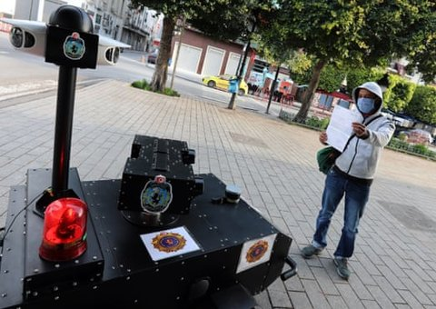 """Tunisia enforces Covid-19 lockdown with a helicopter, deploys """"robocop"""" to patrol streets"""