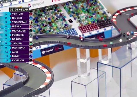 Formula E has taken to marble races to pass the time
