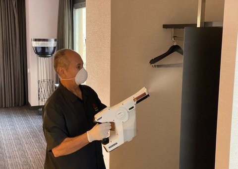 Marriott is using high-tech disinfection sprayers to protect against COVID-19