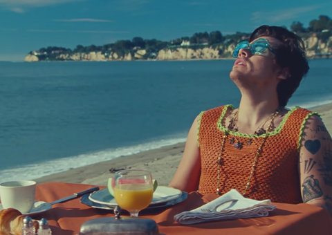 Harry Styles' 'Watermelon Sugar' music video is a masterclass in summer styling