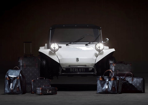 The Berluti Buggy is a VW Beetle engine wrapped in leather