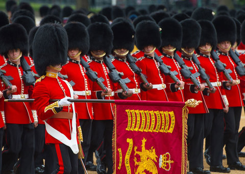 Trooping the Colour for Queen Elizabeth III