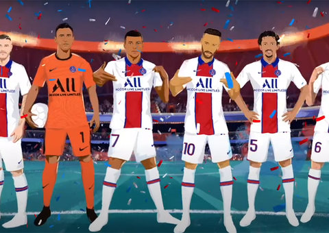 PSG release next season's kit via a cartoon