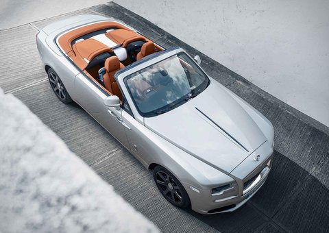 You don't get swankier convertibles than this Rolls-Royce Dawn Silver Bullet