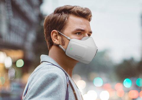 LG made a mini Air Purifier you wear as a mask