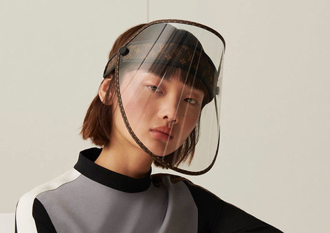Louis Vuitton just made a US$1,000 monogram face shield