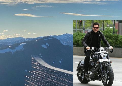 Watch Tom Cruise motorbike off a cliff in ridiculous MI7 stunt