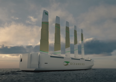 This titanic sailboat will use wind to transport 7,000 cars
