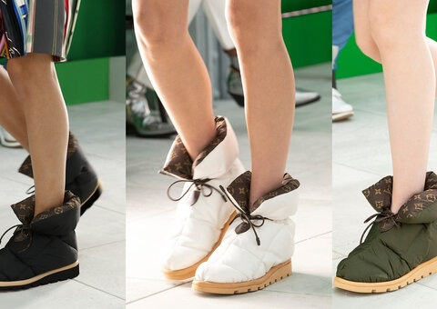 What is with Louis Vuitton's monogram 'pillow boot'?