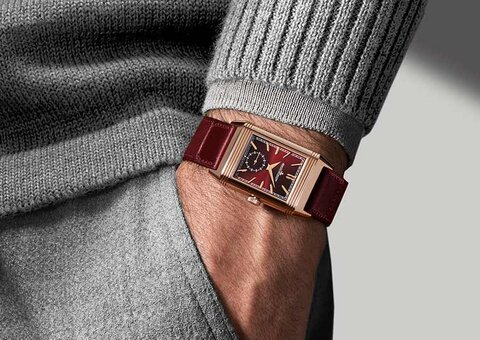 Jaeger-LeCoultre unveils new burgundy Reverso Tribute Duo