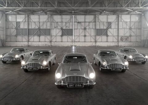 Aston Martin has re-made the DB5 from 'Goldfinger'