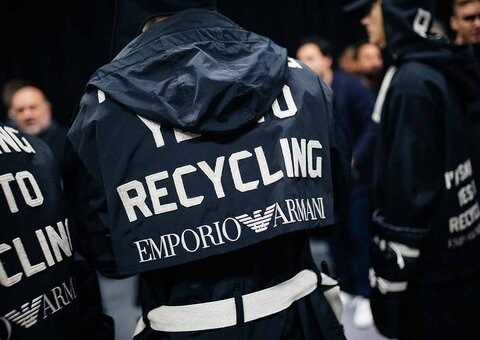 Armani's new R-EA capsule is built from recycled materials