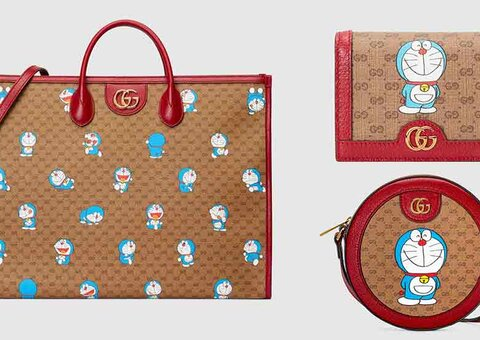 Gucci continues its wild collabs: this time with Doraemon