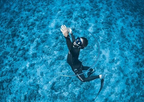 Panerai's new performance watch is inspired by free diver Guillaume Néry