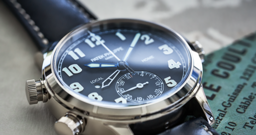 We got first dibs on Patek's Ref. 7234G-001 Calatrava Pilot watch