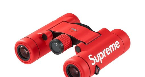 Supreme x Leica team up produces bright red binoculars