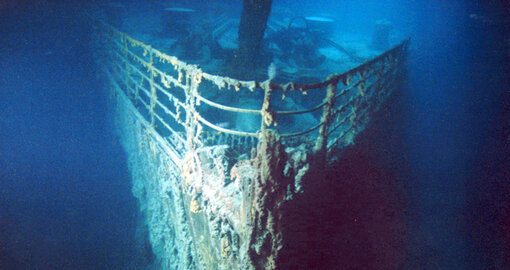 This submarine will take you down to see the Titanic before it dissolves